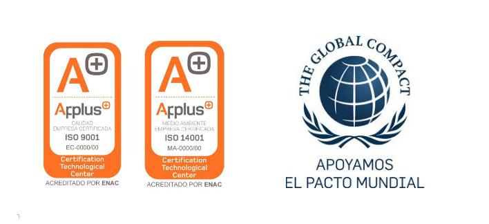 Sellos ISO 9001 y 14001, RSC