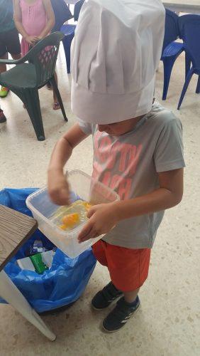 Taller cocina niños campamento