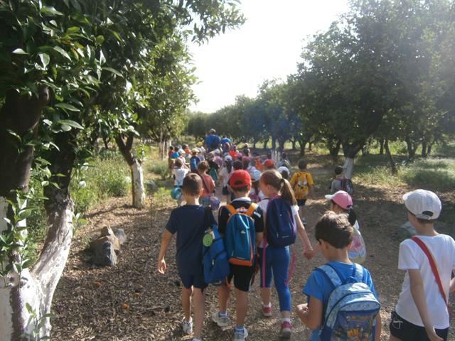 Excursión escolar por el Vivero del Parque del Alamillo
