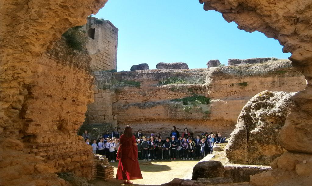 Excursión escolar por el Castillo de Alcalá